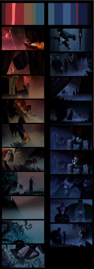 Работа над персонажами Влада и Бэлу