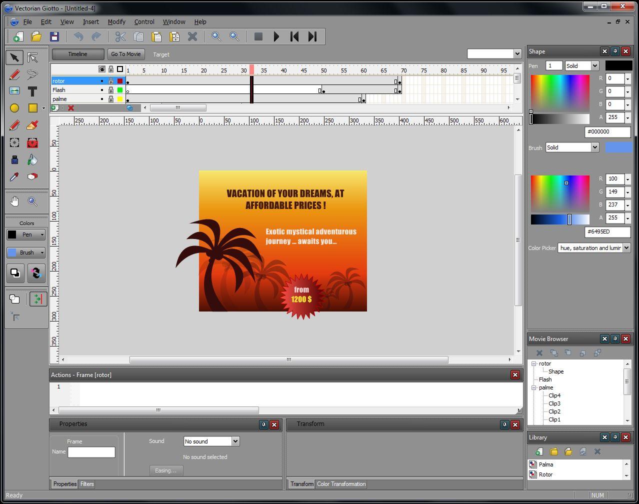 Софт для создания 2D анимации за 0$