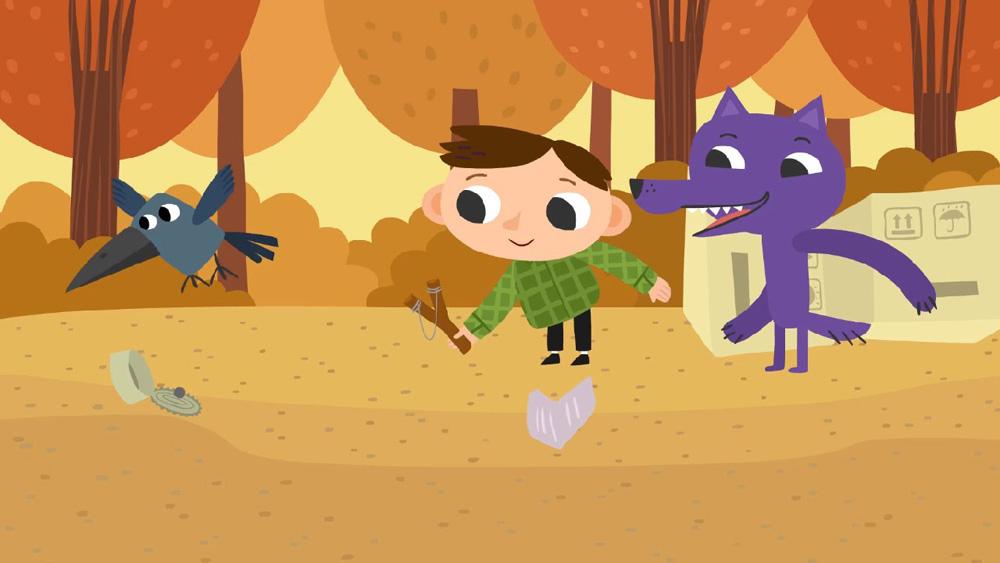 В фильме «Петя Волк» образ героя так построен на соединении с его противоположностью. Волк делает все то, что Петя боится / Фото: студия анимации «Да»