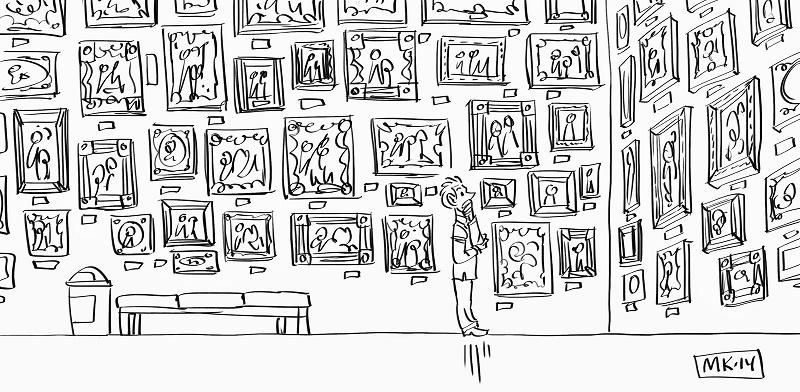 персонаж в галерее