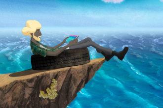 анимация Остров