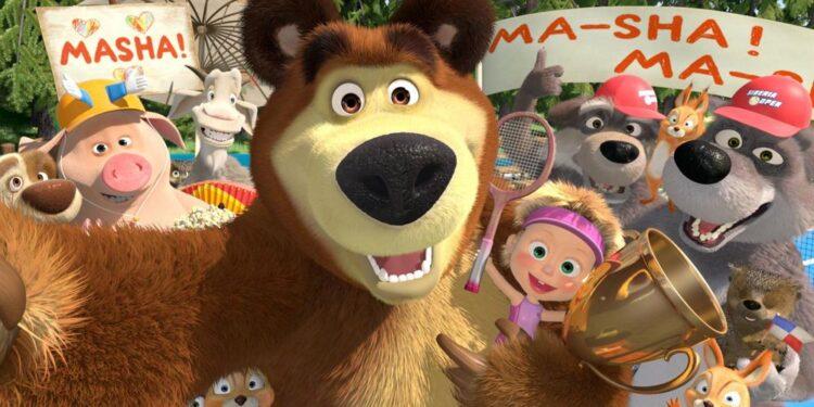 Маша и Медведь покоряют мир